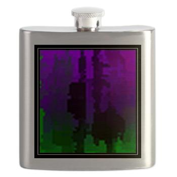 Flask with original art